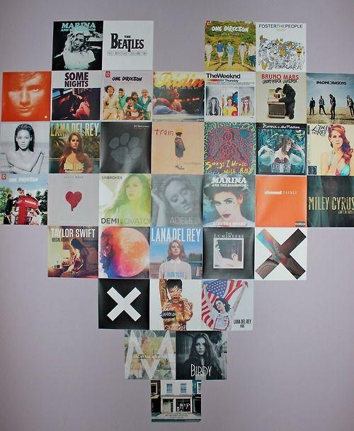 13 Best Album Art Display Images On Pinterest | Album Covers Within Album Cover Wall Art (Image 1 of 20)