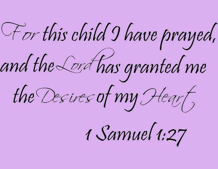 135 Best Wall Decals, Wall Art Images On Pinterest | Wall Decals In For This Child I Have Prayed Wall Art (Image 1 of 20)