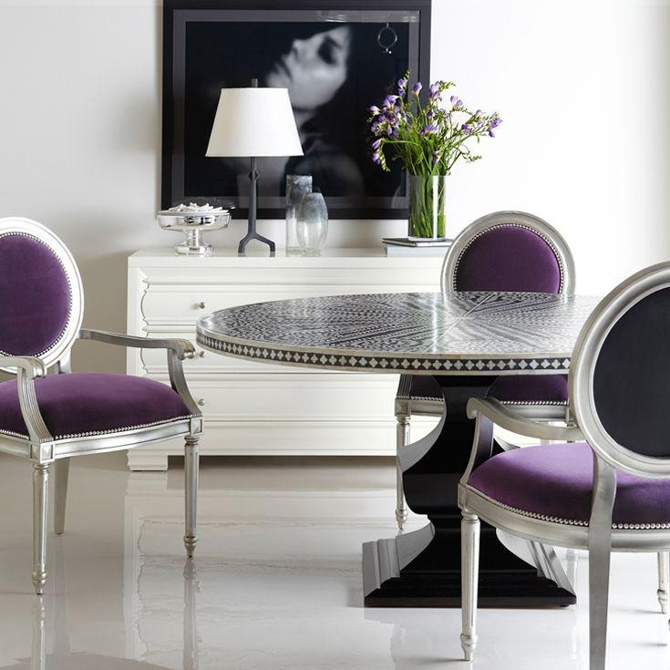 136 Best Dining Room Ideas Images On Pinterest | Home, Chairs And Pertaining To Most Recently Released Dining Tables And Purple Chairs (Image 3 of 20)