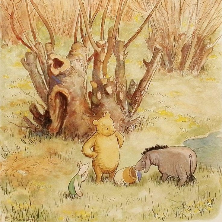 145 Best The Hundred Acre Wood Images On Pinterest | Pooh Bear Intended For Classic Pooh Art (Image 3 of 20)