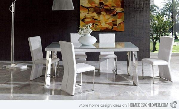 15 Sophisticated Modern Dining Room Sets | Home Design Lover Intended For Modern Dining Sets (View 5 of 20)