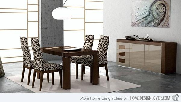 15 Sophisticated Modern Dining Room Sets | Home Design Lover With Modern Dining Room Sets (Image 1 of 20)