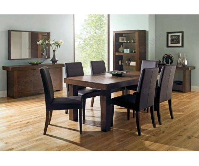 16 Best 6 Seat Dining Sets Images On Pinterest | Dining Sets For Best And Newest Dark Wood Dining Tables And 6 Chairs (Image 1 of 20)