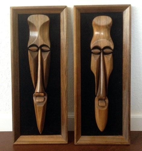 16 Best Mask Images On Pinterest | Masks, African Masks And Africans Pertaining To Wooden Tribal Mask Wall Art (View 10 of 20)