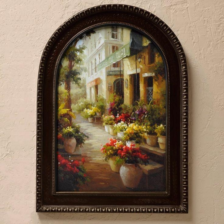 162 Best For The Home Images On Pinterest | Flower Arrangements For Italian Overlook Framed Wall Art Sets (Image 3 of 20)