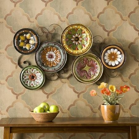17 Best Accent Wall Images On Pinterest | Kitchen, Colors And Regarding Scattered Italian Plates Wall Art (View 19 of 20)