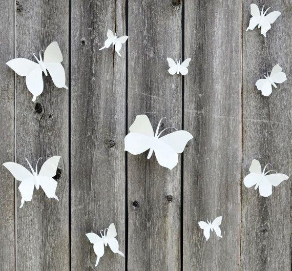 17 Best Butterfly Wall Pins Images On Pinterest | Metal Wall Art In White Metal Butterfly Wall Art (Image 1 of 20)
