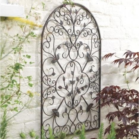 17 Best Images About Wrought Iron For Outside On Pinterest | Iron Within Outdoor Wrought Iron Wall Art (Image 2 of 20)