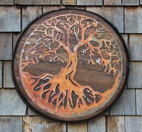 17 Best Tree Of Life Images On Pinterest | Tree Of Life, Metal Within Tree Of Life Wood Carving Wall Art (Image 1 of 20)