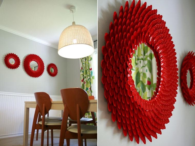 17 Cool Things To Make With Plastic Spoons Inside Plastic Spoon Wall Art (Image 1 of 20)