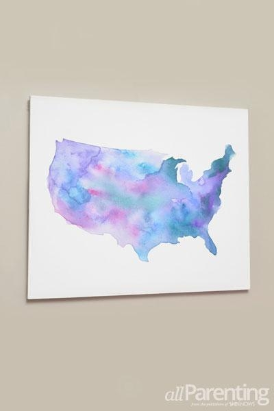 17 Diy Watercolor Wall Art Pieces To Get Inspired – Shelterness Intended For Diy Watercolor Wall Art (Image 4 of 20)
