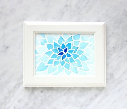 17 Diy Watercolor Wall Art Pieces To Get Inspired – Shelterness Intended For Diy Watercolor Wall Art (Image 3 of 20)