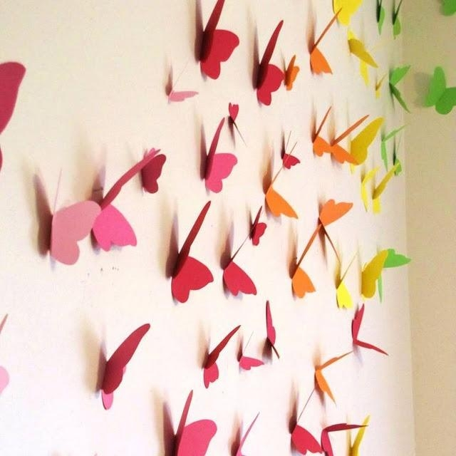 172 Best Paper Wall Art Images On Pinterest | Crafts, Paper And Throughout Rainbow Butterfly Wall Art (Image 1 of 20)