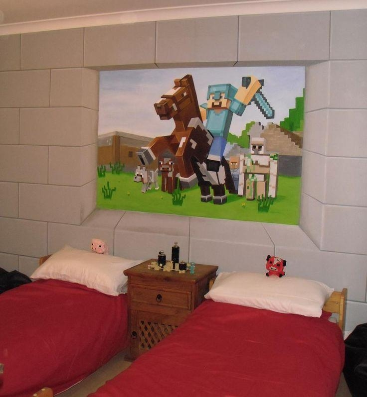 174 Best Custom Murals Images On Pinterest | Murals, Bedroom Pertaining To Minecraft Wall Art Uk (View 17 of 20)