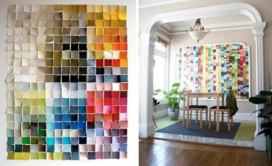 18 Paint Chip Craft Ideas – Kids Kubby Throughout Paint Swatch Wall Art (Image 2 of 20)