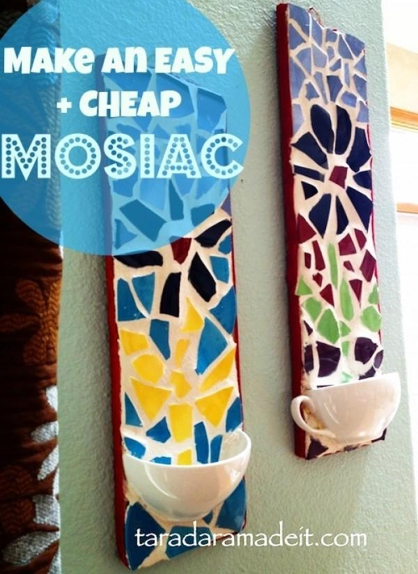 18 Stunning Diy Mosaic Craft Projects For Easy Home Decor With Regard To Diy Mosaic Wall Art (View 6 of 20)