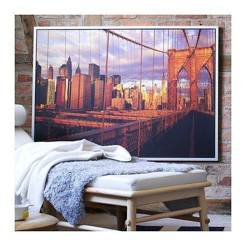 19 Best Living Room Images On Pinterest | Home, Bedrooms And Home With Regard To Ikea Brooklyn Bridge Wall Art (View 2 of 20)