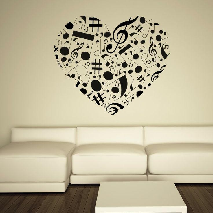 19 Best Music Wall Ideas Images On Pinterest | Music Wall, Wall Intended For Music Notes Wall Art Decals (Image 1 of 20)