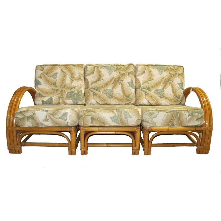 1950's Bamboo Upholstered Sofa Set At 1Stdibs Intended For Bamboo Sofas (Image 1 of 20)