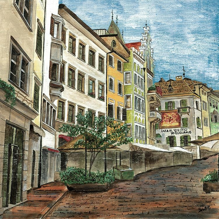 2 Pictures Combination Wall Art Painting Canvas For Living Room Inside Italian Village Wall Art (Image 2 of 20)