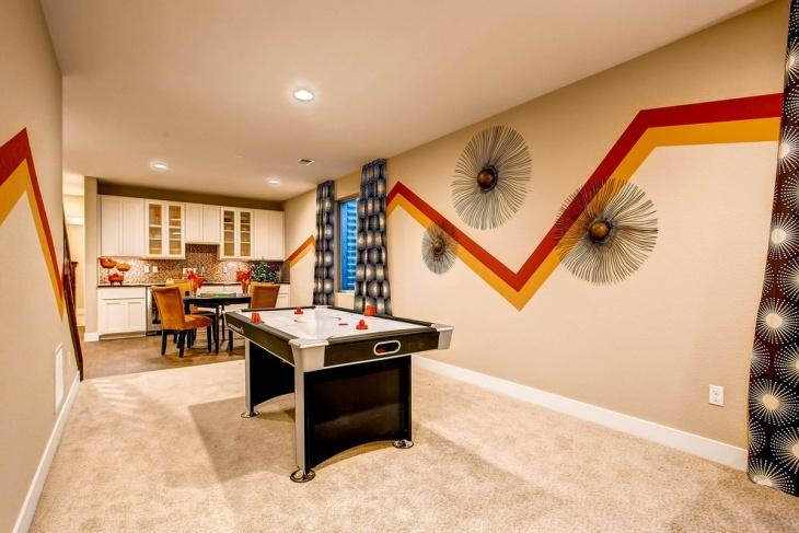 20+ Basement Game Room Designs, Ideas | Design Trends – Premium Throughout Wall Art For Game Room (Image 2 of 20)
