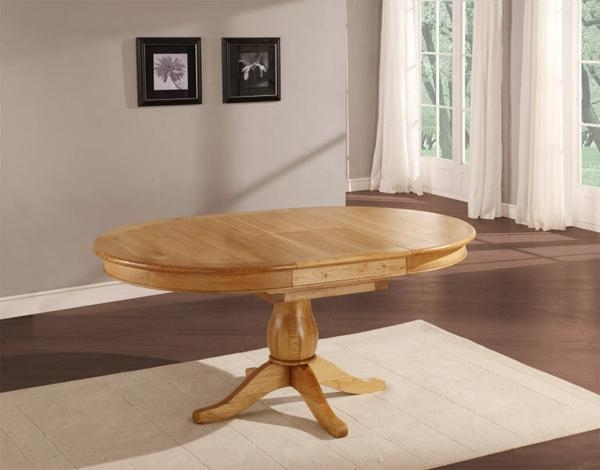 20 Outstanding Oval Oak Dining Room Tables | Home Design Lover Throughout Recent Oval Extending Dining Tables And Chairs (Image 1 of 20)