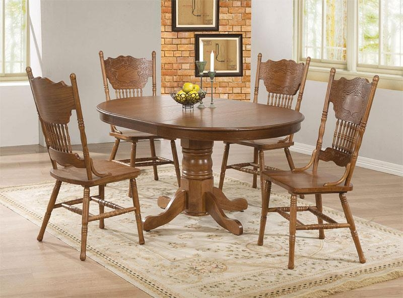 20 Perfectly Shaped Oval Pedestal Table For Your Dining Area With Recent Oval Oak Dining Tables And Chairs (Photo 17 of 20)