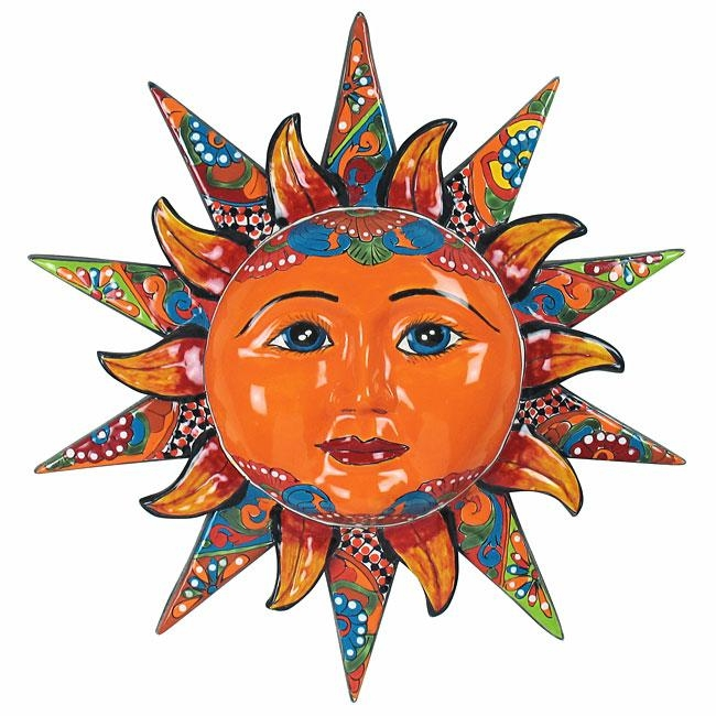 "20"" Talavera Sun Face – Multi Dimensional Throughout Mexican Ceramic Wall Art (Image 2 of 20)"