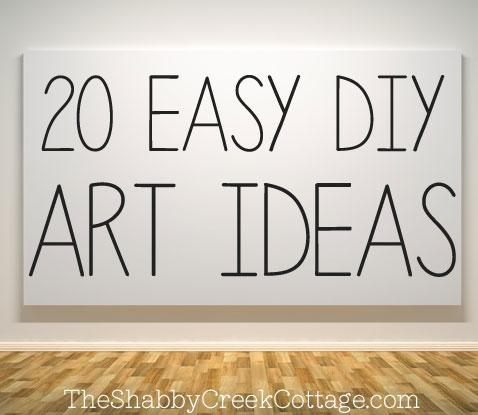 20 Ways To Make Your Own Wall Art Pertaining To Diy Metal Wall Art (Image 1 of 20)