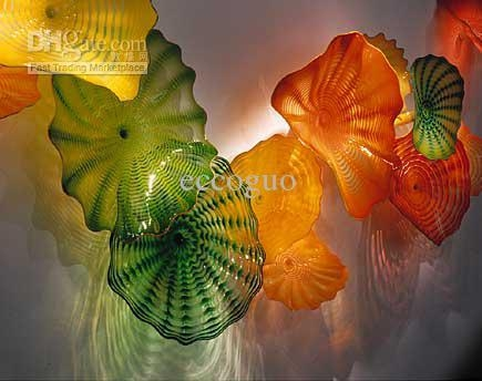 2017 100% Hand Blown Glass Ce/ul Certificate Chihuly Borosilicate Intended For Glass Wall Art For Sale (View 3 of 20)