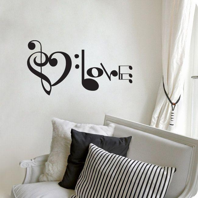 21 Best Music Images On Pinterest | Music, Music Notes And Violin Intended For Music Notes Wall Art Decals (Image 2 of 20)