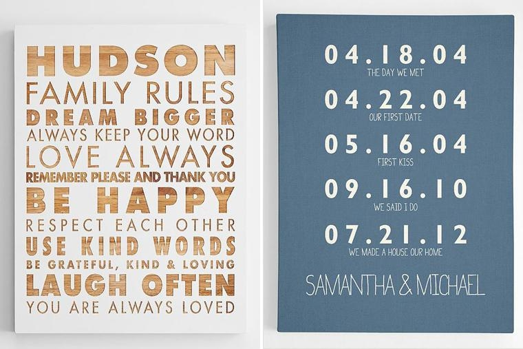 21 Ideas That What Women Really Want For Christmas | Camp Makery Intended For Personalized Family Wall Art (Image 1 of 20)
