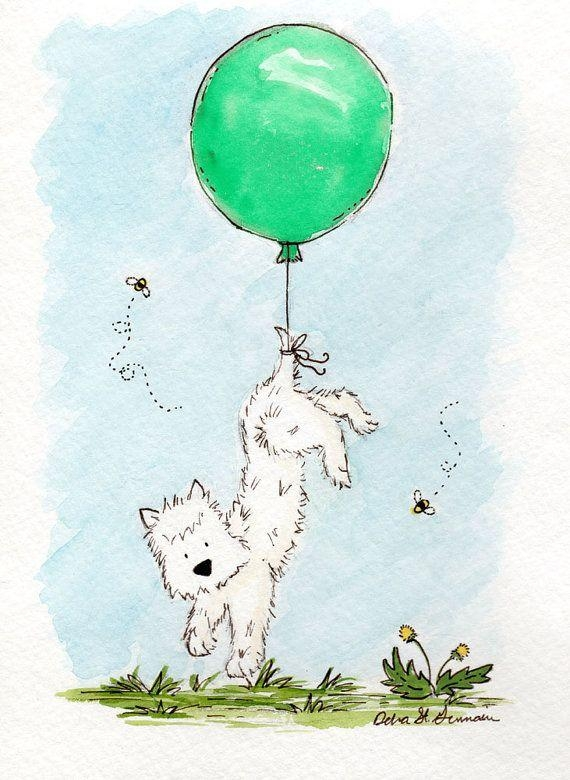 219 Best Westie Art Images On Pinterest | Westies, White Terrier Within Westie Wall Art (Photo 19 of 20)