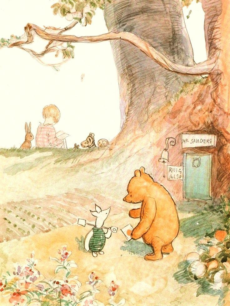 22 Best Art Images On Pinterest | Drawings, Pooh Bear And Paintings For Classic Pooh Art (Image 4 of 20)