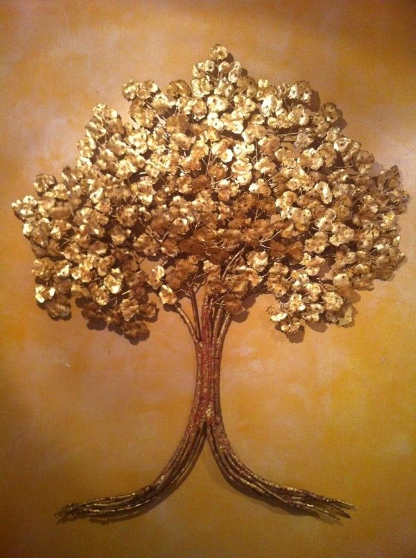 22 Best Artsy Images On Pinterest | Copper, Aspen And Wall Sculptures Regarding Copper Oak Tree Wall Art (Image 5 of 20)