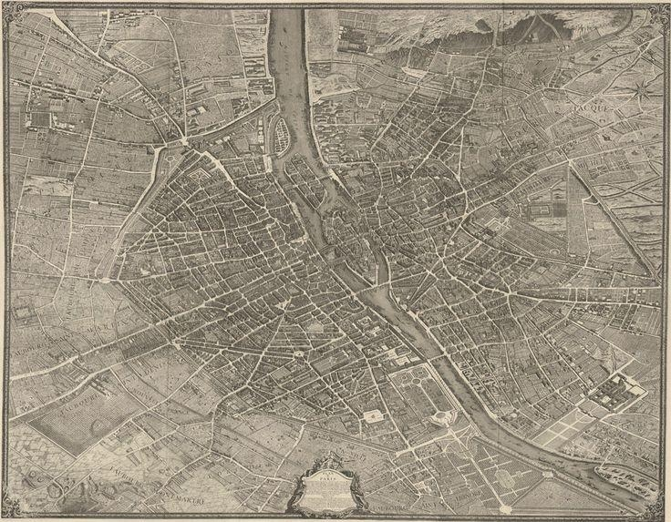 22 Best Vintage Maps I Sell Images On Pinterest | Vintage Maps Regarding Map Of Paris Wall Art (Image 2 of 20)