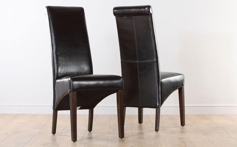 22 Dining Chairs Brown | Auto Auctions With Regard To 2017 Dark Brown Leather Dining Chairs (Image 1 of 20)