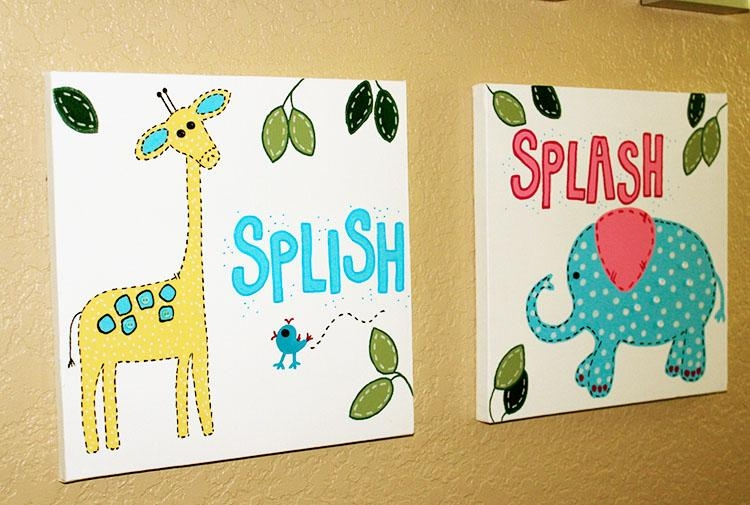 222 Kids Bathroom Wall Art, Kids Bathroom Ideas, Kids Bathroom For Kids Bathroom Wall Art (Image 1 of 20)