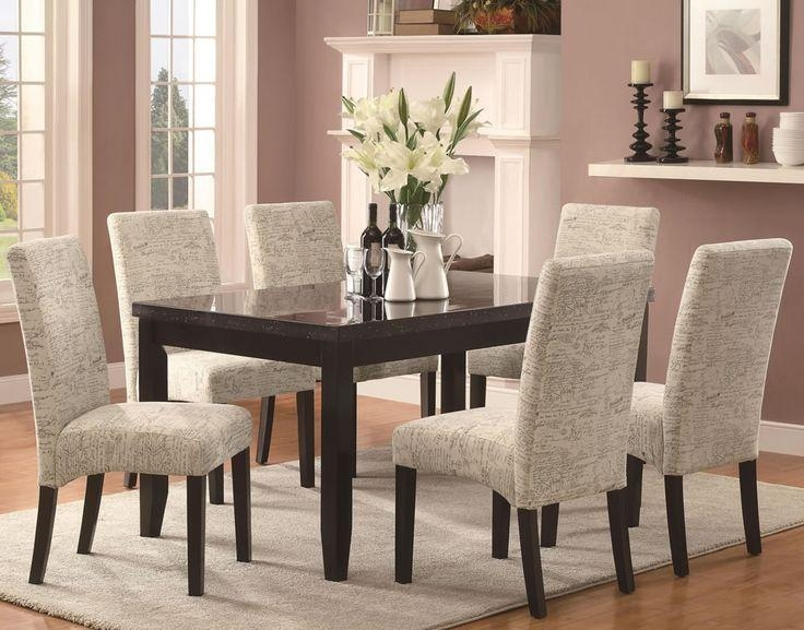24 Best Best Fabric Dining Chairs Images On Pinterest | Fabric Inside Most Popular Dining Tables And Fabric Chairs (Image 1 of 20)