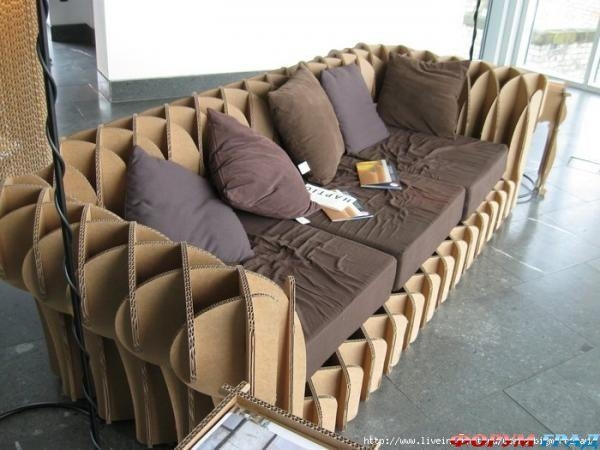 24 Best Cardboard Chairs, Benches, Stools, Sofas (Seating For Cardboard Sofas (Image 2 of 20)