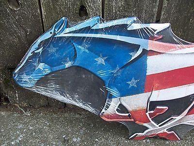 "24"" Ford Mustang Usa Horse Logo Tin Metal Wall Art Sign Shelby Inside Ford Mustang Metal Wall Art (Image 6 of 20)"