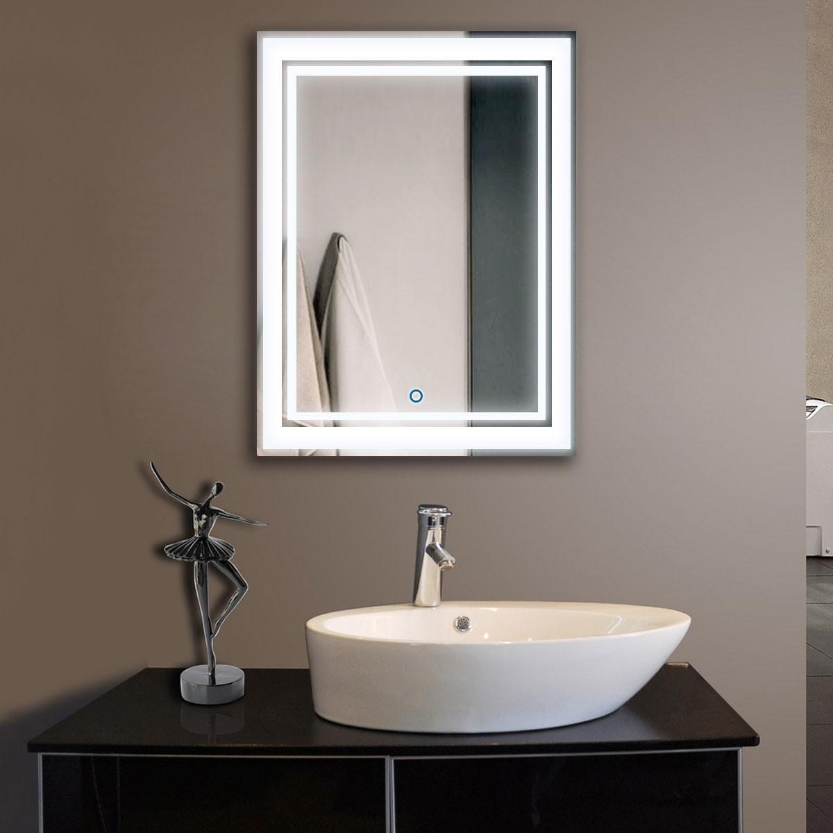 24 X 32 In Vertical Led Mirror, Touch Button (Dk Od Ck160 Intended For Led Lit Bathroom Mirrors (Image 1 of 20)