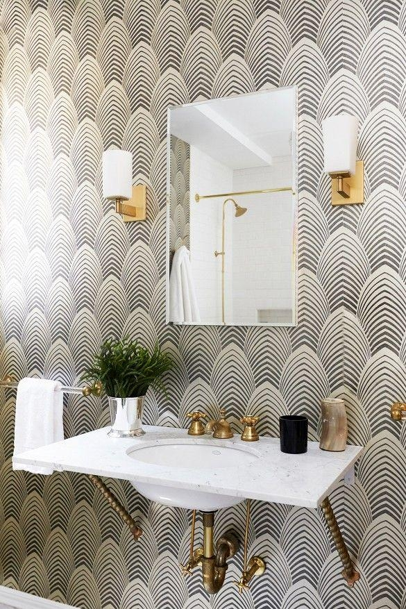 247 Best Art Deco & Streamline Moderne Glamorous Decor Images On Regarding Glamorous Bathroom Wall Art (Image 2 of 20)