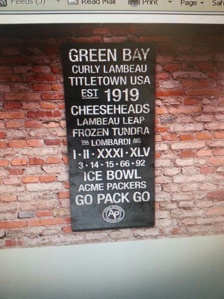25+ Best Green Bay Packers History Ideas On Pinterest | Packers With Green Bay Packers Wall Art (Image 1 of 20)