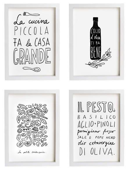 25+ Best Italian Themed Kitchen Ideas On Pinterest | Italian With Regard To Black And White Italian Wall Art (Image 5 of 20)