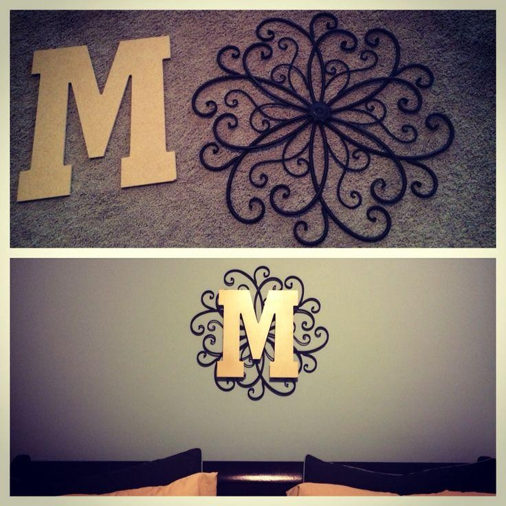 25+ Best Monogram Wall Decorations Ideas On Pinterest | Burlap Intended For Decorative Initials Wall Art (Image 1 of 20)