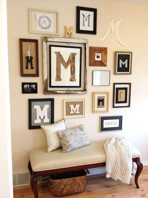 25+ Best Monogram Wall Decorations Ideas On Pinterest | Burlap Regarding Monogrammed Wall Art (Image 1 of 20)