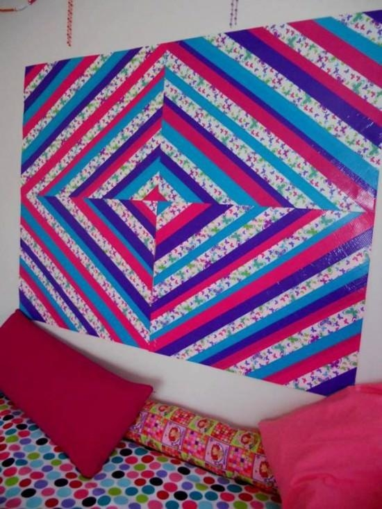 25 Cool Duct Tape Crafts | Tip Junkie Throughout Duct Tape Wall Art (Image 2 of 20)
