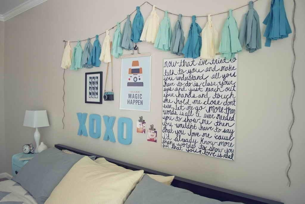 25+ Diy Ideas & Tutorials For Teenage Girl's Room Decoration 2017 Regarding Wall Art For Teenage Girl Bedrooms (Image 4 of 20)