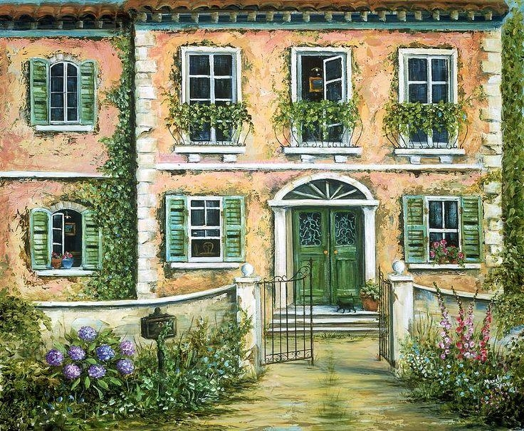 26 Best Marilyn Dunlap Paintings Images On Pinterest | Landscapes Pertaining To Italian Villa Wall Art (Image 6 of 20)
